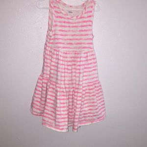 Pink and white Girls dress